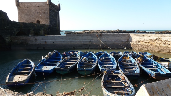 Boats at the pier - Essaouira